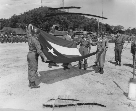 00_PRFlag_Presented to _65th_Infantry_Korea_1952