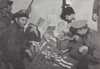 police with pR flags